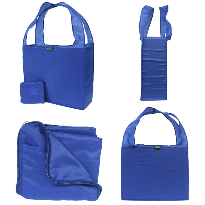 BLANK Polyester Z-Tote Assortment - Red, Royal, Navy, Black, Grass, Burgundy - Bag Ban Approved - CLOSE OUT