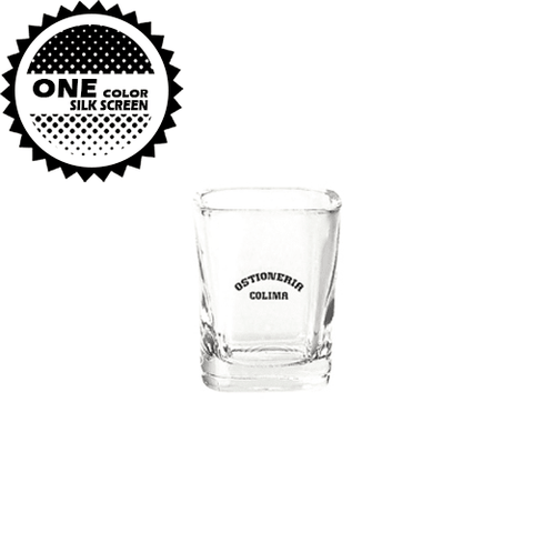 2 oz Square Shot Glass (Import)