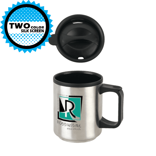 11 OZ STAINLESS MUG WITH PLASTIC LINER,[wholesale],[Simply+Green Solutions]
