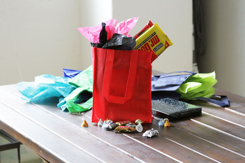 BLANK Gift Tote Assortment -Grass Green, Kelly Green, Mint Green, Teal - *Stocked in the USA* - CLOSE OUT