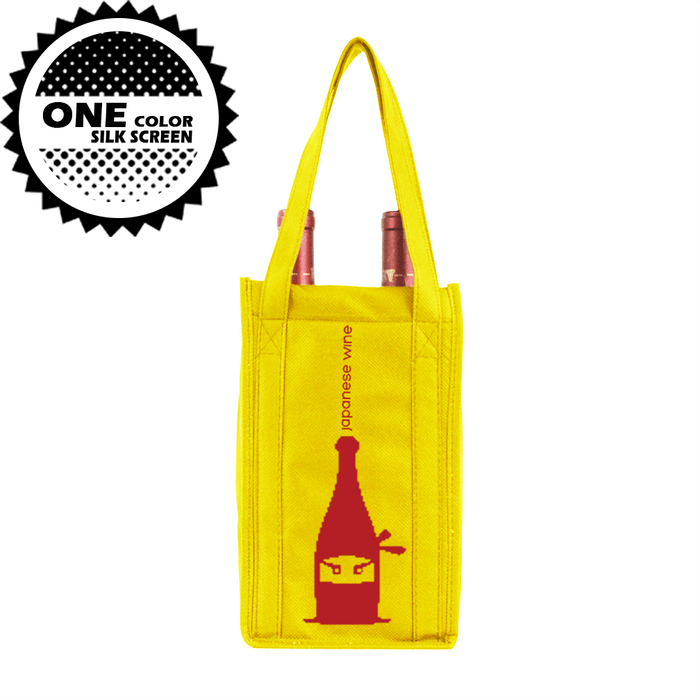 Two bottle Wine Tote, Double Layered *Fully Customizable*,[wholesale],[Simply+Green Solutions]