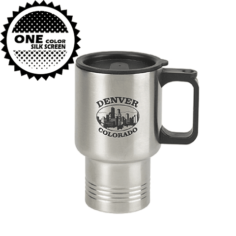 16 oz Travel Mug w/Stainless Steel Liner