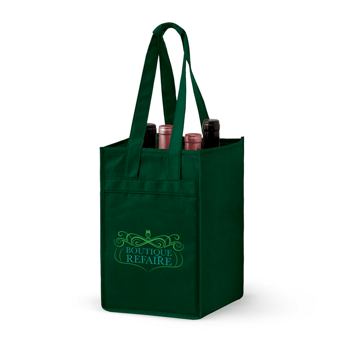 4 Bottle Non-woven Wine Tote Bag *Stocked in the USA*,[wholesale],[Simply+Green Solutions]