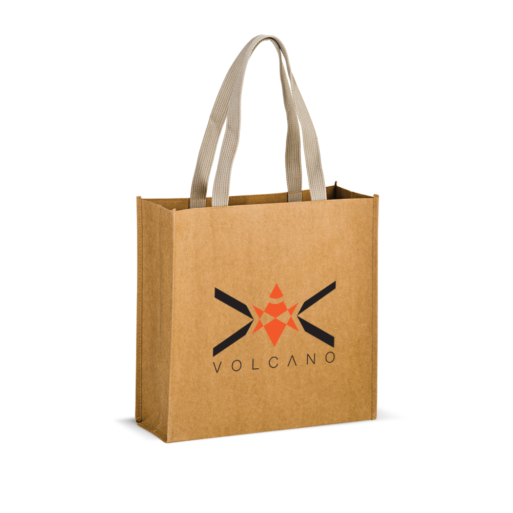 Tidal Wave - Washable Kraft Paper Tote Bag w/ Web Handle,[wholesale],[Simply+Green Solutions]