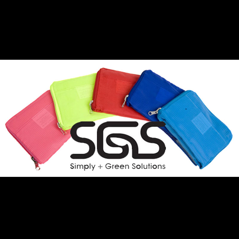 BLANK Polyester Z-Tote Assortment - Red, Sky Blue, Royal Blue, Pink, Neon Yellow - Bag Ban Approved - CLOSE OUT