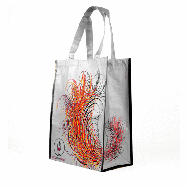 RPET Stitchbond Laminated Grocery Tote *Fully Customizable* Bag Ban Approved