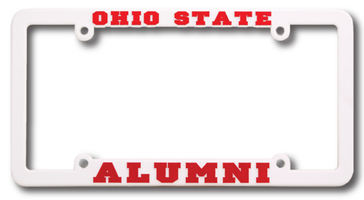 Ohio High High View Raised Copy Plastic License Plate Frame,[wholesale],[Simply+Green Solutions]