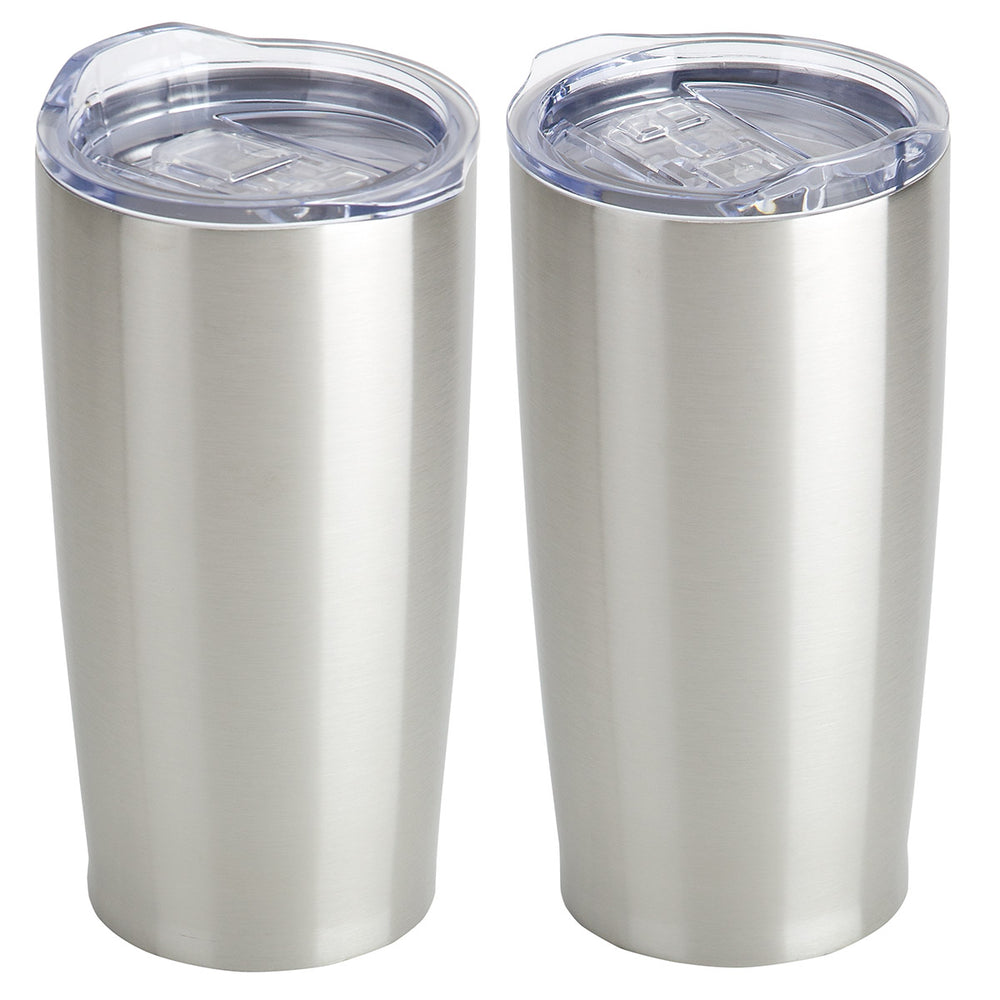 20 oz BLANK Vacuum Insulated Stainless Steel Tumbler - Silver - 23 Pack - CLOSE OUT