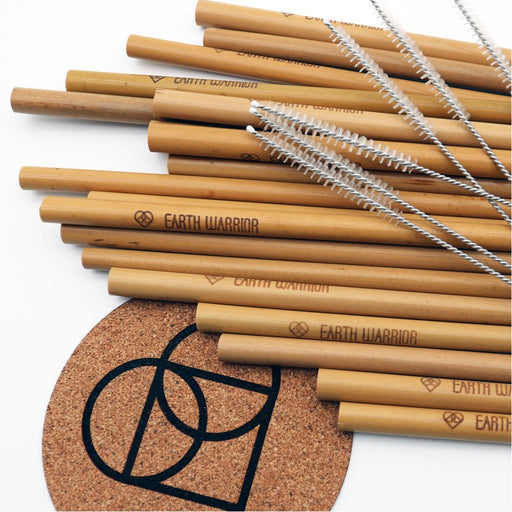 Pack of 10 Bamboo Straws