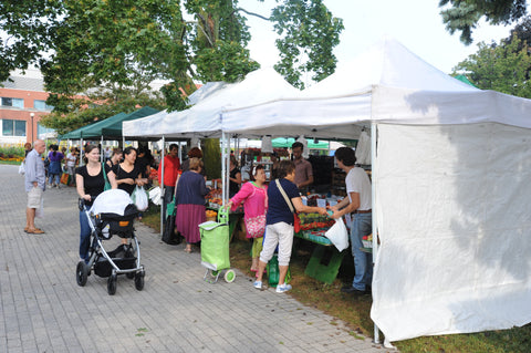 Vendors at the East York Farmers' Market  Aug 27