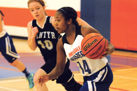 Innisdale beat Nantyr Shores in girls basketball action in Barrie
