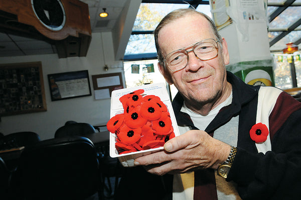 Remembrance Day poppy sales in Barrie