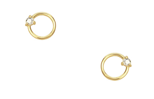 Small Diamond Circle Studs