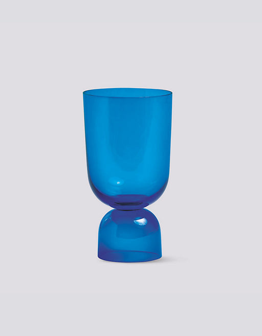 Bottoms Up glass vase in Blue from HAY brand. Available at Easy Tiger Goods Toronto.