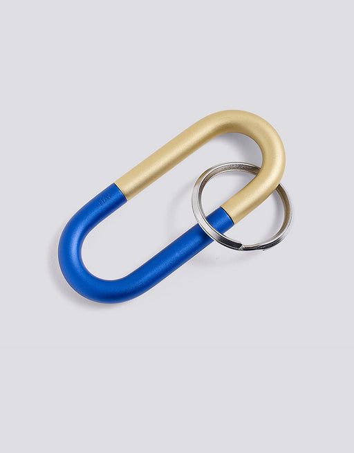 CANE metal key ring in Blue from HAY brand. Available at Easy Tiger Goods Toronto.