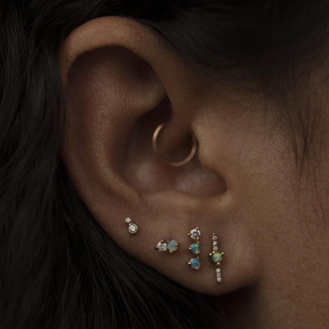 Double Nugget Earrings