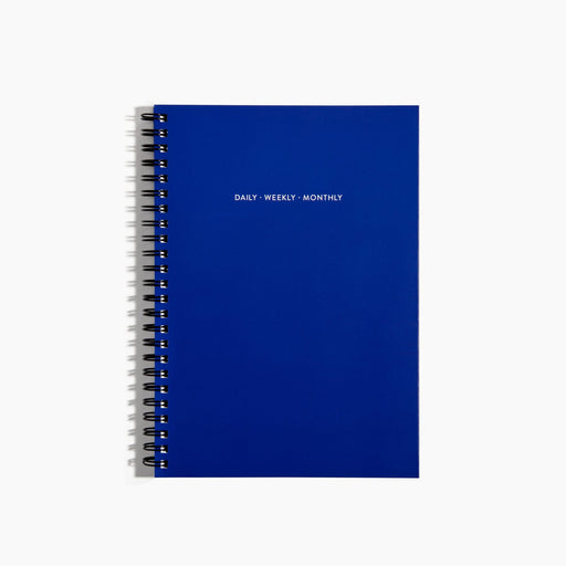 Poketo Daily, Weekly, Monthly Planner in Blueberry. Available at Easy Tiger Toronto.