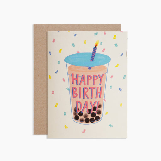 Poketo HAPPY BIRTHDAY BOBA Card. Available at Easy Tiger Goods Toronto.
