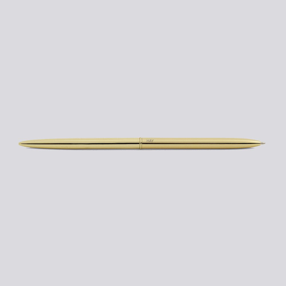 Gold Bullet Pen by HAY. Available at Easy Tiger Goods Toronto.