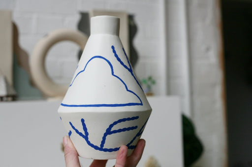 Sophie Alda Cloud Diamond Vase. Available at Easy Tiger Toronto.