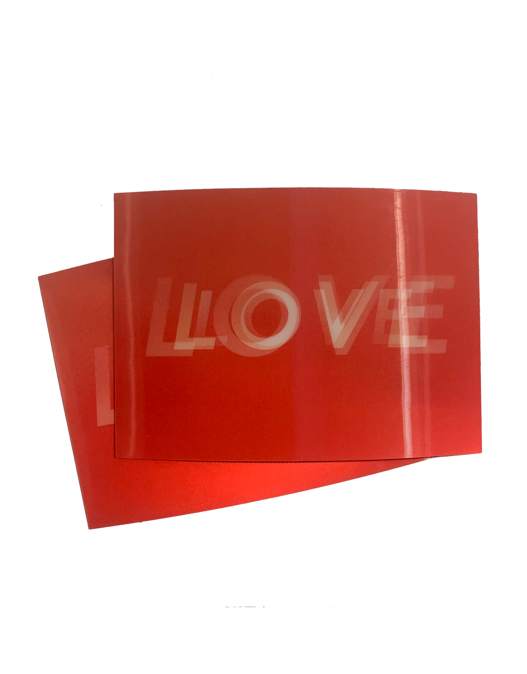 HAY Holographic LOVE post card. Available at Easy Tiger Goods Toronto.