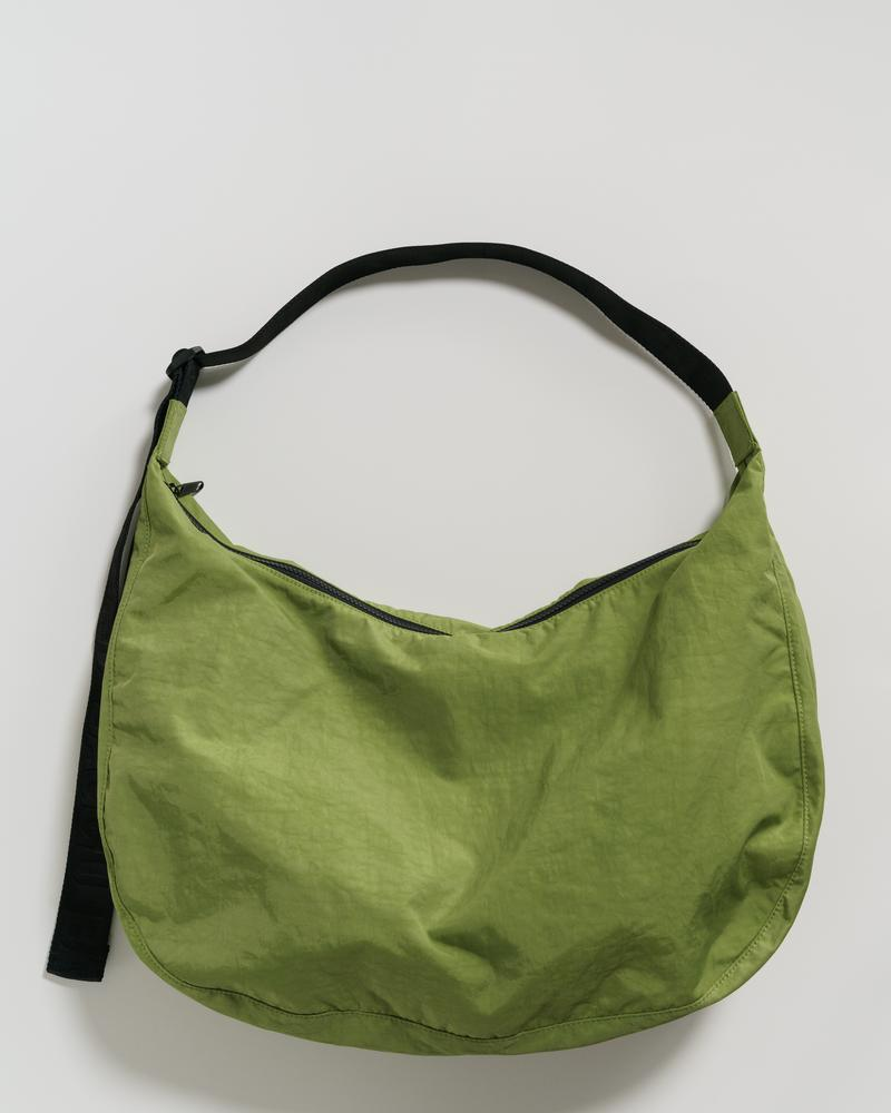 Baggu Large Nylon Crescent Bag in Green Apple. Available at Easy Tiger Goods Toronto.
