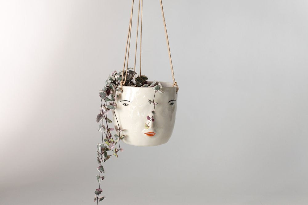 Hanging Face Pot