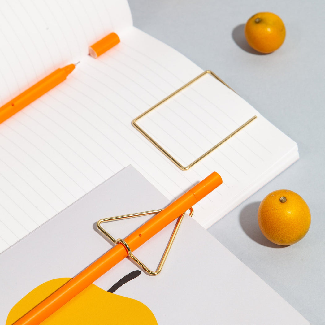 Simple Lined Notebook in Tangerine