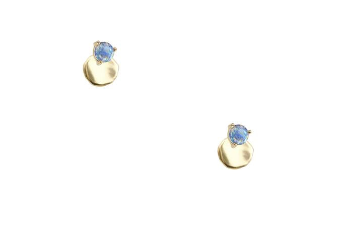 Small Disc Stud with Opal