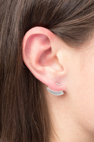 Crescent Back Earring