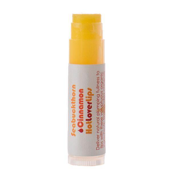 Living Libations Seabuckthorn Cinnamon Hot Lover Lips balm. Available at Easy Tiger Toronto.