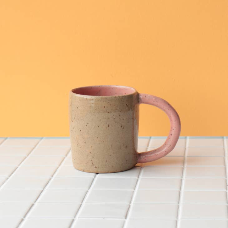 Colourblock Mug in Rose by Nightshift Ceramics. Available at Easy Tiger Goods Toronto.