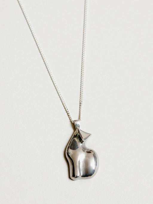 Wolf Circus Le Chat pendant necklace in silver. Available at Easy Tiger Toronto.