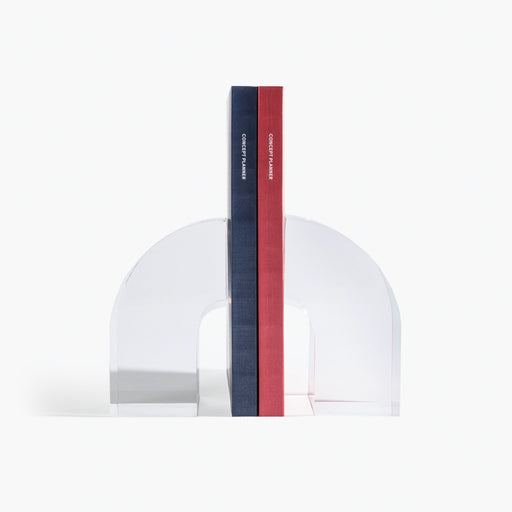 Lucite Arc Bookends (Set of 2)