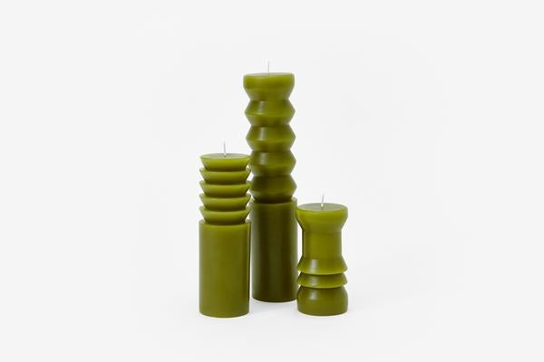 Areawear Totum Candles, Moss. Available at Easy Tiger Goods Toronto.