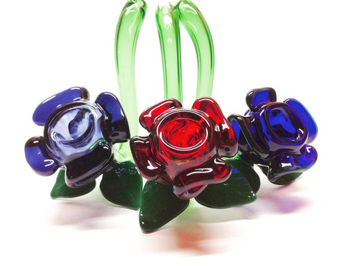 Purple Rose Sherlock Glass Pipe