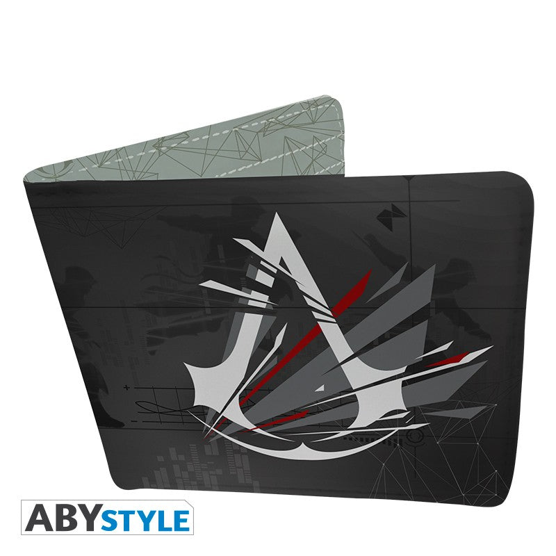 Valhalla Crest Logo/Emblem Design Assasin's Creed Licensed Black Bi-Fold Vinyl Wallet Unisex