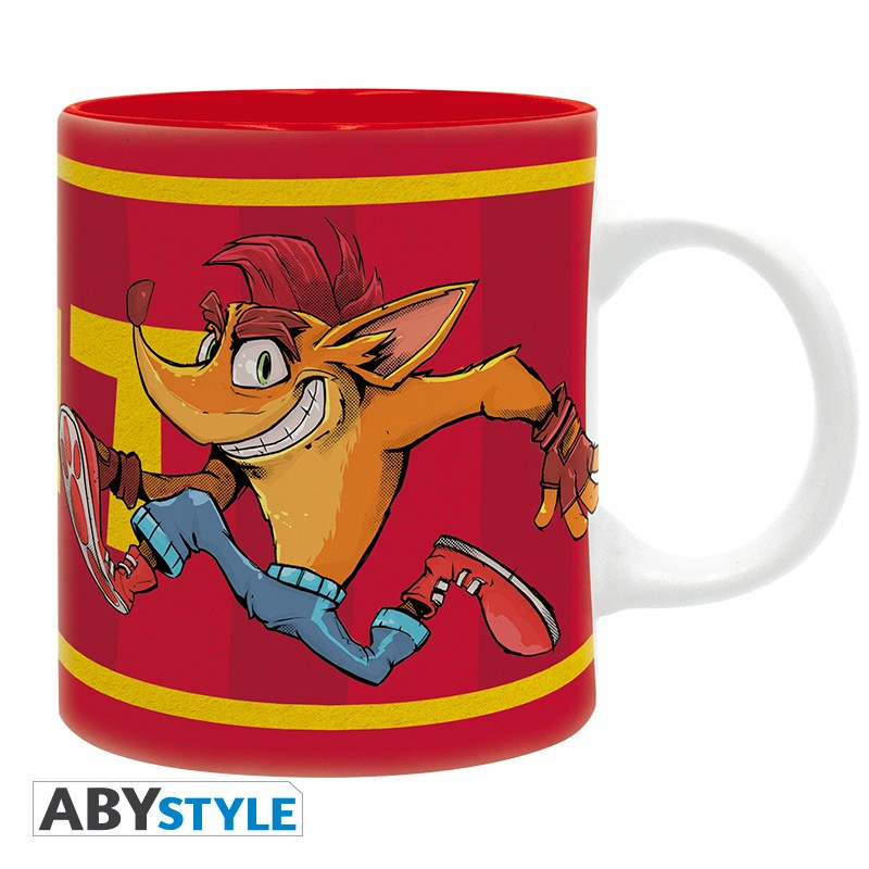 Crash Bandicoot and Neo Cortex TNT Design Activision Licensed Red 320 ml High Quality Ceramic Mug