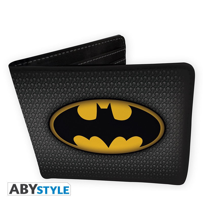 Batman Logo/Emblem Design DC Comics Licensed Black Bi-Fold Vinyl Wallet Unisex