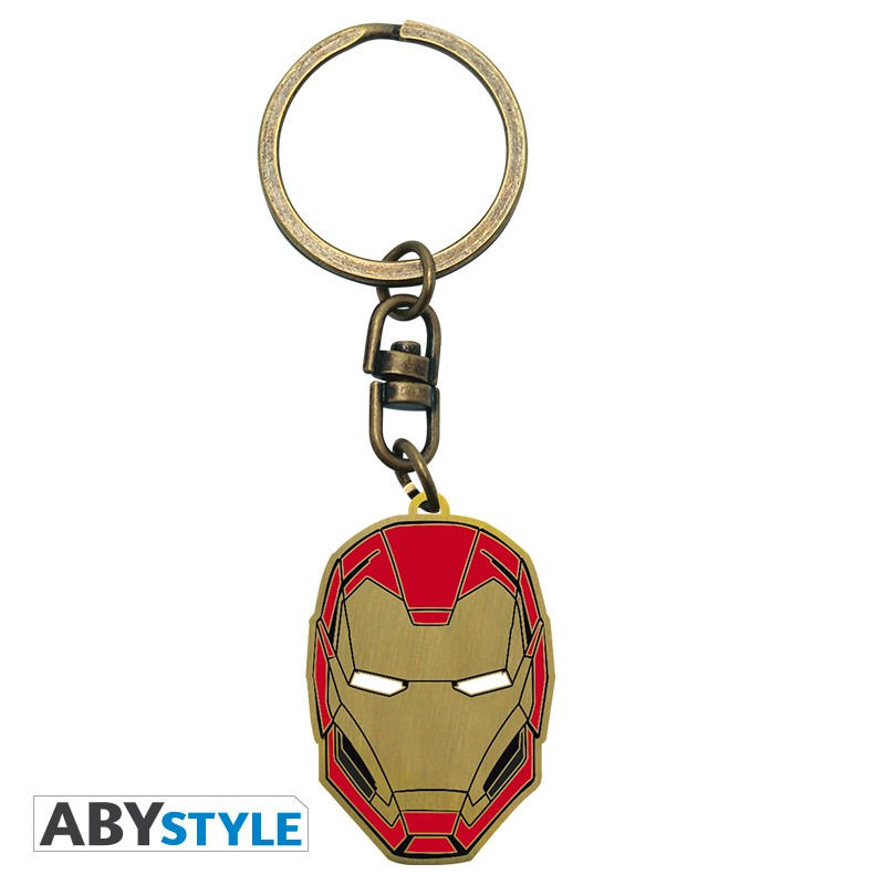 Iron Man Helmet Design Marvel Licensed Red and Gold High Quality Metal Keychain