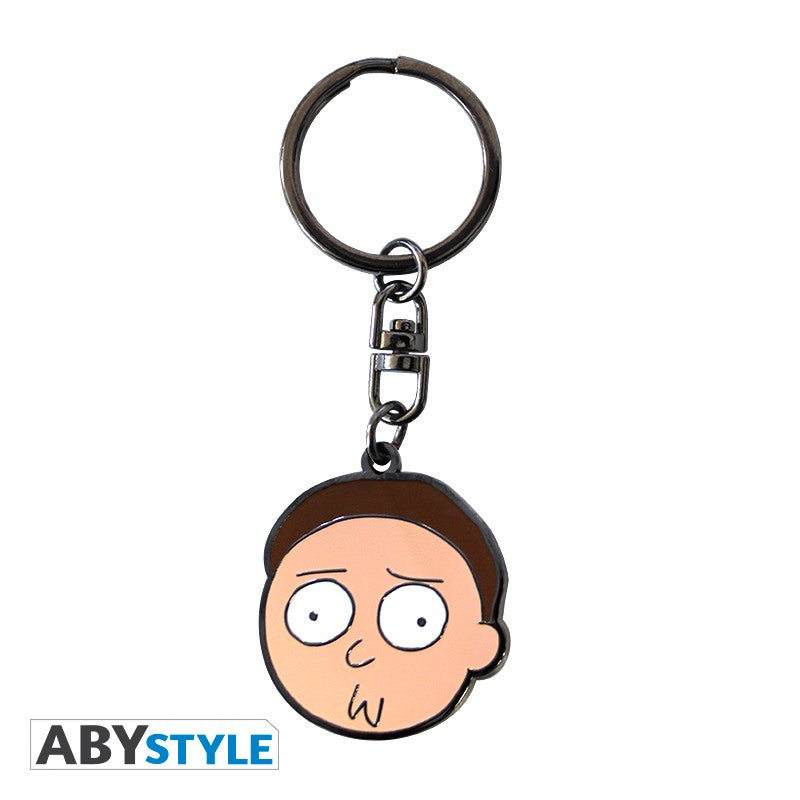 Rick and Morty Morty's Face Design Adult Swim Licensed Multi-Color High Quality Metal Keychain