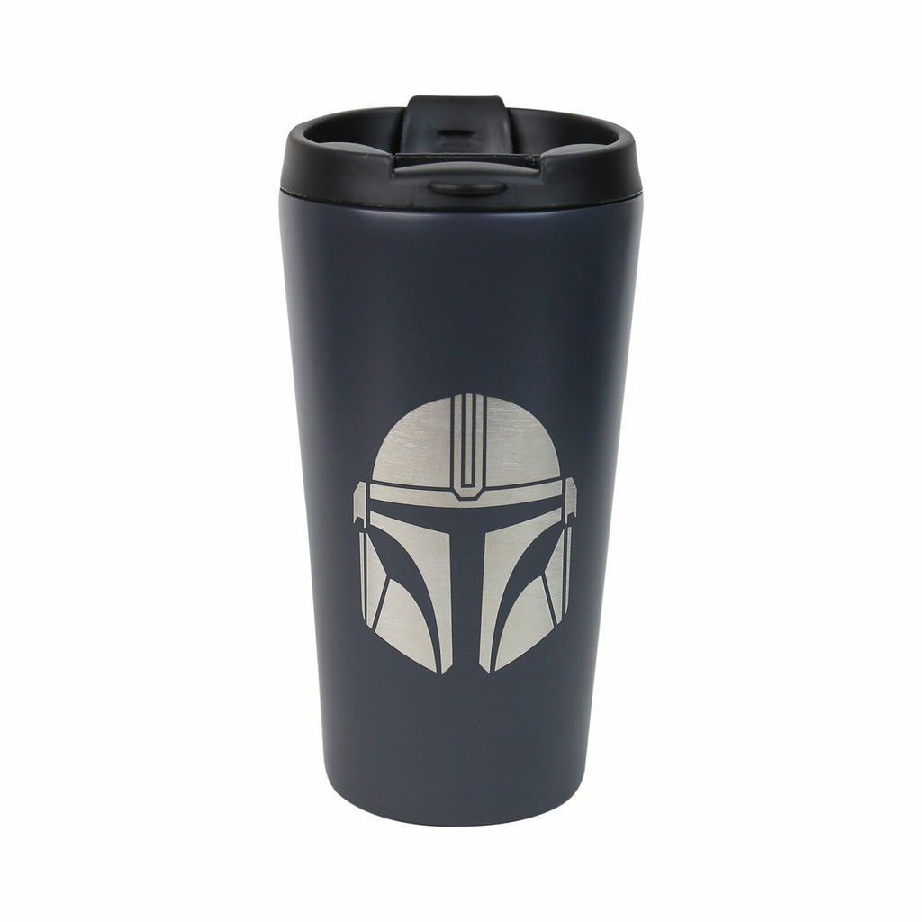 Half Moon Bay The Mandalorian Helmet Design Star Wars Licensed Dark Grey 400ml Stainless Steel Travel Mug/Tumbler
