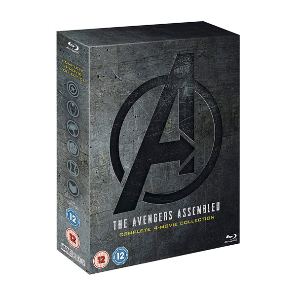 The Avengers Assembled Complete 4-Movie Collection 5 Disc Blu-ray Box Set