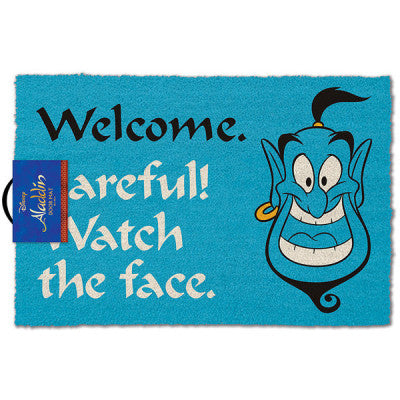 Aladdin - Genie 'Welcome. Watch The Face!' Doormat