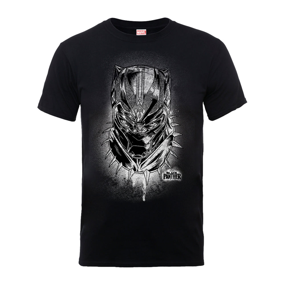 Marvel's Black Panther Spray Headshot Black T-Shirt