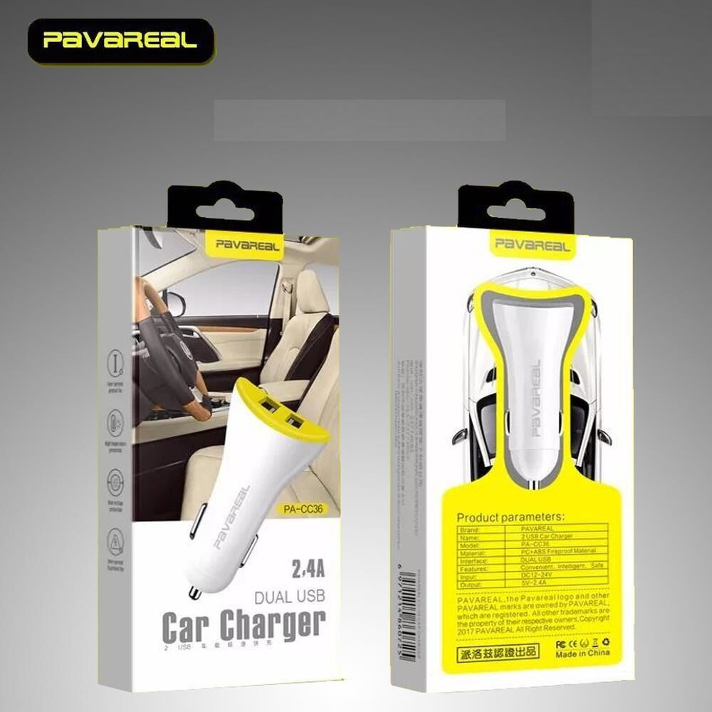 Pavareal - Dual Car Charger | Mobile Accessories Dubai