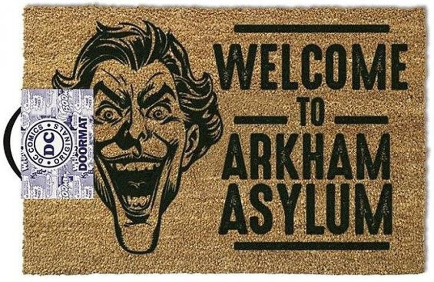 DC Comics The Joker Welcome To Arkham Asylum Coir Doormat Dubai