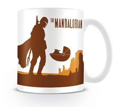 The Mandalorian This is the Way (Mandalorian and Baby Yoda Silhouette) Design Star Wars Licensed White 315 ml Ceramic Everyday Mug