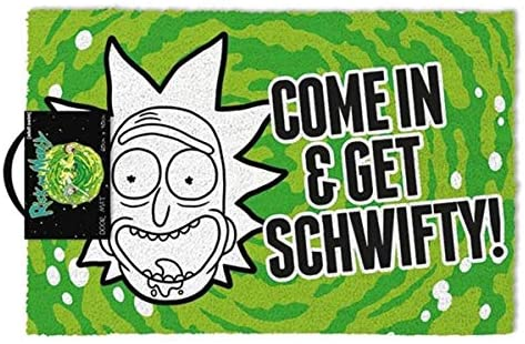 Rick and Morty - 'Come In & Get Schwifty' Doormat