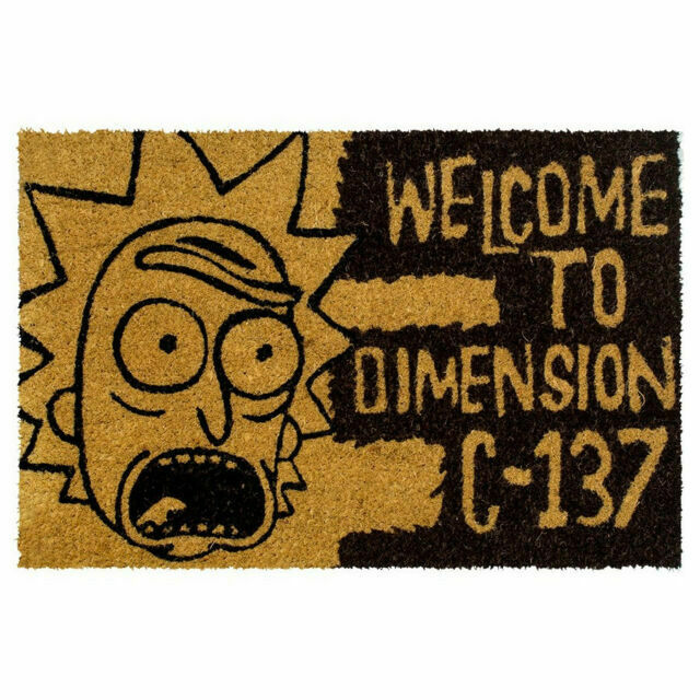 Rick and Morty - 'Welcome to Dimension C-137' Doormat